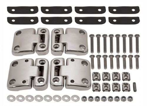 Defender Stainless Steel Front Row Door Hinges - set of 4